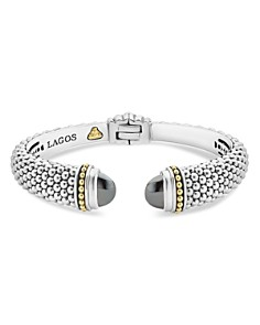 LAGOS 18K Gold and Sterling Silver Caviar Color Hematite Cuff Bracelets - Bloomingdale's_0