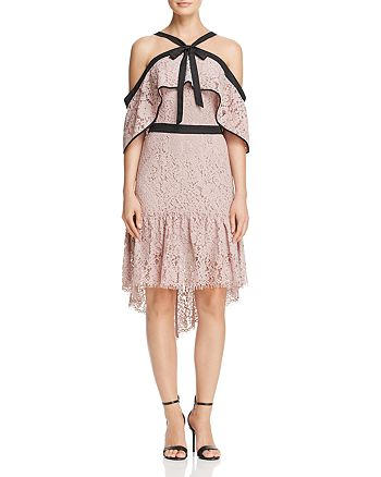 Adelyn Rae - Tracy Cold-Shoulder Lace Dress