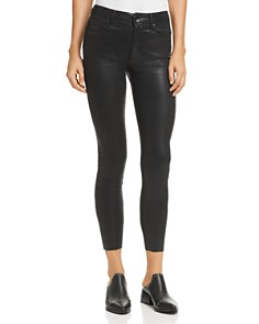 Joe's Jeans - Charlie Coated Ankle Skinny Jeans in Black