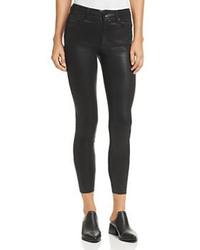 70acc1507f0b02 Joe's Jeans - Charlie Coated Ankle Skinny Jeans in Black ...