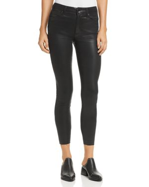 Joe's Jeans The Charlie High-Rise Coated Ankle Skinny Jeans in Black