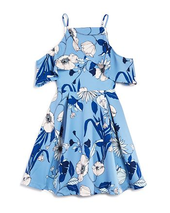 Bardot Junior - Girls' Cold-Shoulder Floral Print Dress - Big Kid