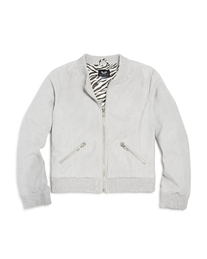 Bardot Junior Girls' Faux-Suede Bomber Jacket - Big Kid