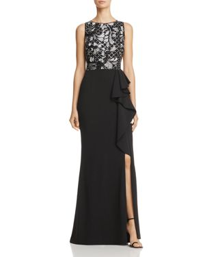 Adrianna Papell Embellished-Bodice Gown
