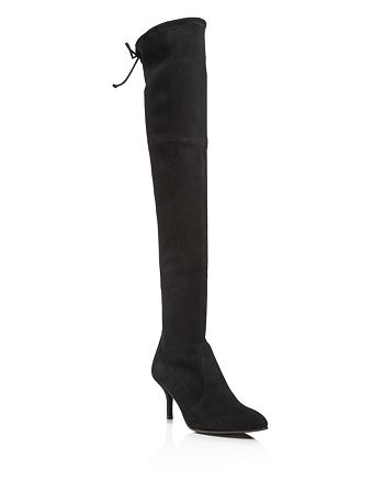 Stuart Weitzman - Women's Tiemodel Suede Over-the-Knee Boots