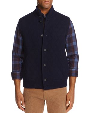 The Men's Store at Bloomingdale's Cashmere Diamond Quilted Sweater Vest