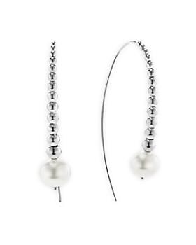 LAGOS - Sterling Silver Signature Caviar Pearl Linear Drop Earrings