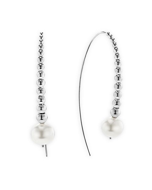 LAGOS - Sterling Silver Signature Caviar Cultured Freshwater Pearl Linear Drop Earrings