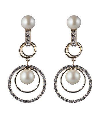 Carolee - Orbital Links Drama Clip-On Earrings