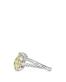 David Yurman - Châtelaine Bypass Ring with Lemon Citrine and Diamonds