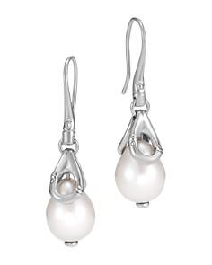 JOHN HARDY - Sterling Silver Bamboo Cultured Freshwater Pearl Drop Earrings
