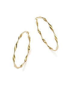 Bloomingdale's - 14K Yellow Gold Large Twisted Hoop Earrings - 100% Exclusive