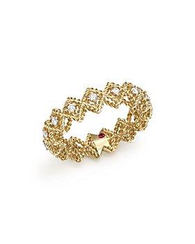 Roberto Coin - 18K Yellow Gold New Barocco Diamond Ring