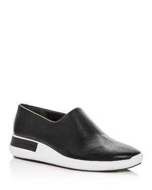 Via Spiga Women's Malena Leather Round Toe Slip-On Sneakers