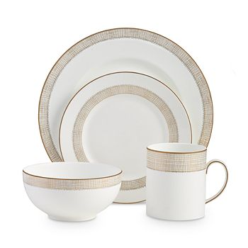 Wedgwood - Gilded Weave 4-Piece Place Setting