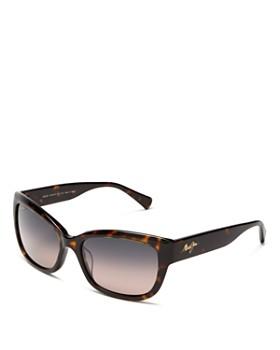 Maui Jim - Women's Plumeria Cat Eye Sunglasses, 55mm