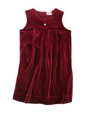 Armani Junior Girls' Stretch Velvet Dress - Little Kid, Big Kid