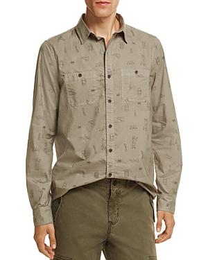 Michael Bastian Camping Print Button-Down Regular Fit Shirt