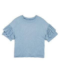 AQUA Girls' Ruffled-Sleeve Tee, Big Kid - 100% Exclusive - Bloomingdale's_0