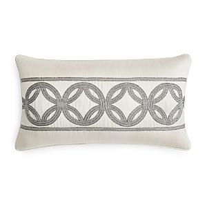Hudson Park Framework Beaded Geo Decorative Pillow, 12 x 22 - 100% Exclusive