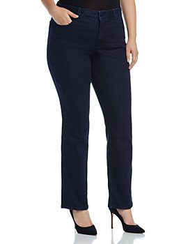 NYDJ Plus - Marilyn Straight Leg Jeans in Rinse