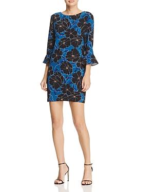Cooper & Ella Floral-Print Flared-Sleeve Dress