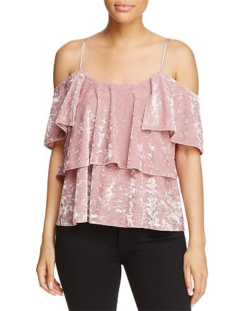 Show Me Your MuMu - Rosalie Velvet Ruffle Top - 100% Exclusive