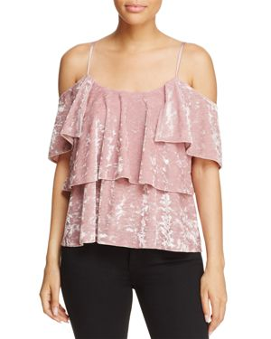 Show Me Your MuMu Rosalie Velvet Ruffle Top - 100% Exclusive