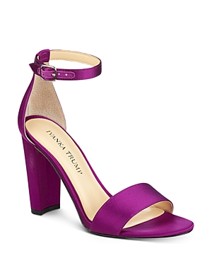 Ivanka Trump Emalyn Satin Ankle Strap High Heel Sandals