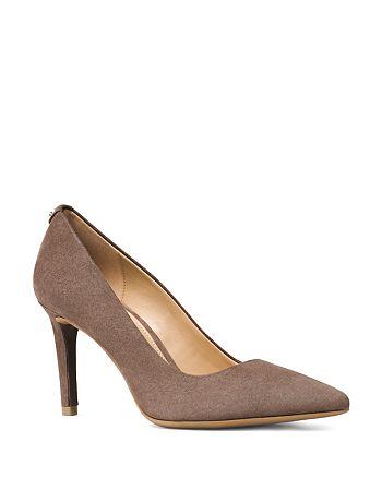 d212745ddd33 MICHAEL Michael Kors - Women s Dorothy Flex Suede Pointed Toe High-Heel  Pumps