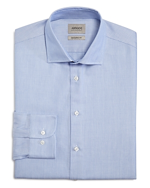 Armani Collezioni Micro Pattern Classic Fit Dress Shirt