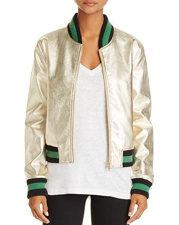 AQUA - Metallic Bomber Jacket - 100% Exclusive