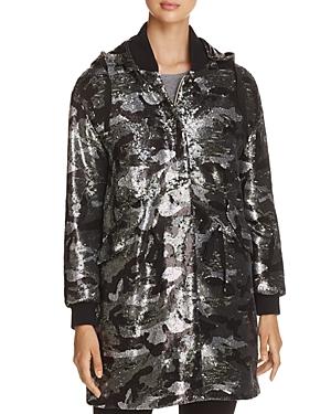 Herno Sequin Camo Coat