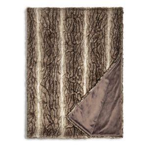 Hudson Park Textured Faux Fur Throw - 100% Exclusive