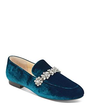 Ivanka Trump Wareen Embellished Velvet Loafers