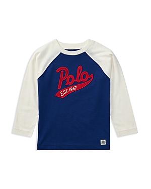 Ralph Lauren Childrenswear Boys Raglan Polo Baseball Tee  Little Kid