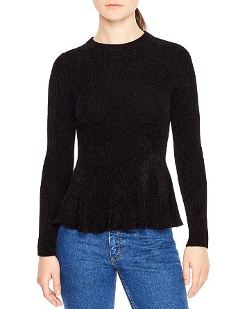 $Sandro Olympe Ribbed Sweater - Bloomingdale's