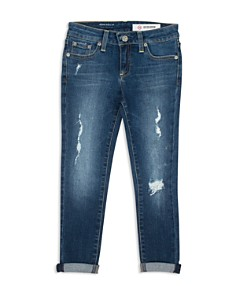 ag Adriano Goldschmied Kids - Girls' Relaxed Cuffed Jeans - Big Kid