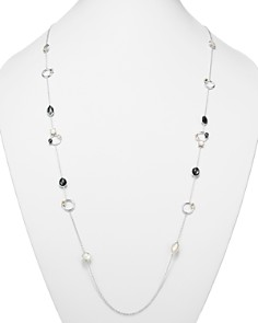 IPPOLITA - Sterling Silver Rock Candy® Open Station Mother-of-Pearl Doublet, Hematite Doublet & Clear Quartz Necklace in Piazza, 40""