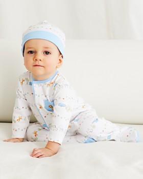 Little Me - Boys' Safari Print Footie & Hat Set - Baby