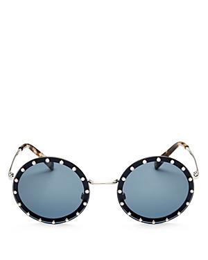 Valentino Women\\\'s Embellished Round Sunglasses, 53mm-Jewelry & Accessories