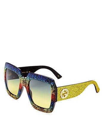 7cd65424e0 Gucci - Women s Oversized Square Glitter Sunglasses