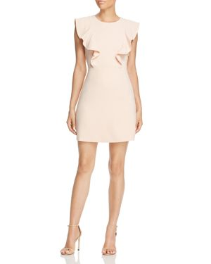 Lucy Paris Terri Flutter Sleeve Dress