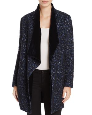Elie Tahari Christina Reversible Shawl Collar Coat