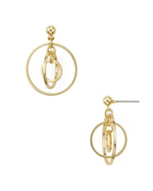 Aqua Neda Multi Circle Stud Earrings - 100% Exclusive