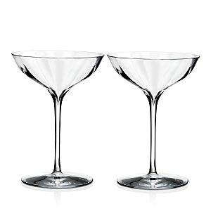 Waterford Elegance Optic Belle Coupe, Set of 2