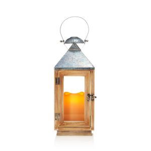Bloomingdale's Wood Lantern with Led Candle - 100% Exclusive