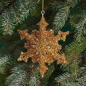 Bloomingdale's Gold Tinsel Snowflake Ornament - 100% Exclusive