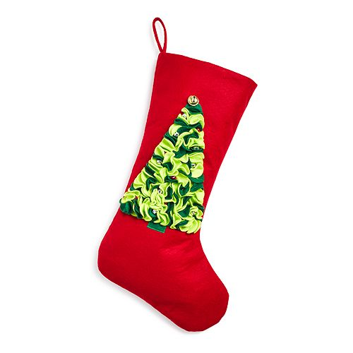Bloomingdale's - Red Felt Christmas Tree Stocking - 100% Exclusive