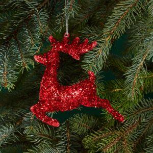 Bloomingdale's Red Tinsel Reindeer Ornament - 100% Exclusive